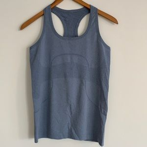 lululemon Swiftly Tech Racerback Tank Blue Sz8